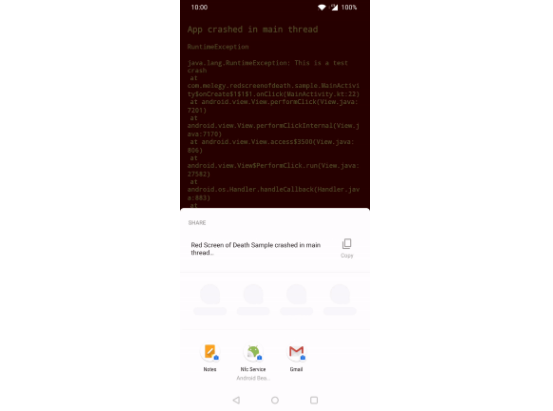 Simple screen that is shown when your app gets crashed with flutter