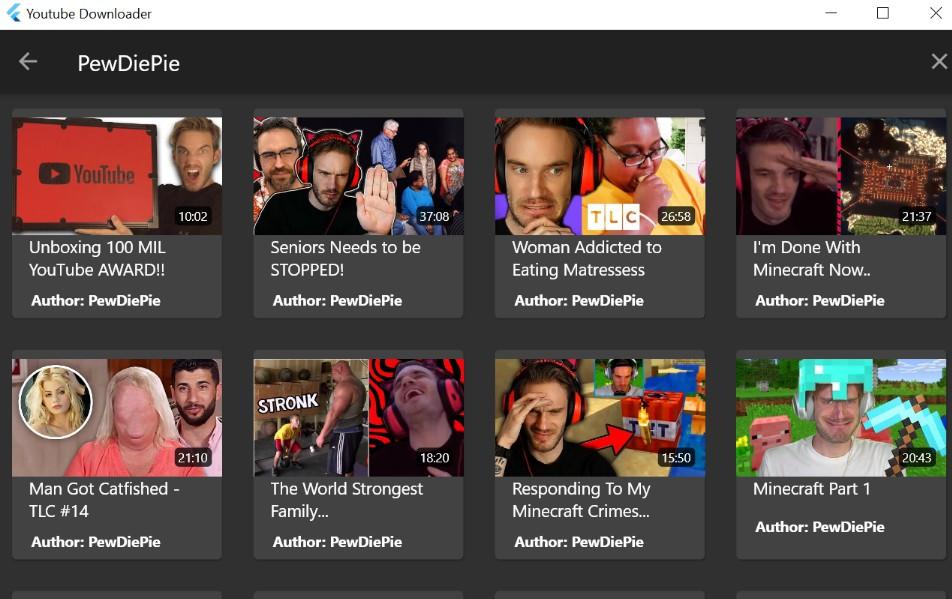 YouTube downloader built fully in Flutter